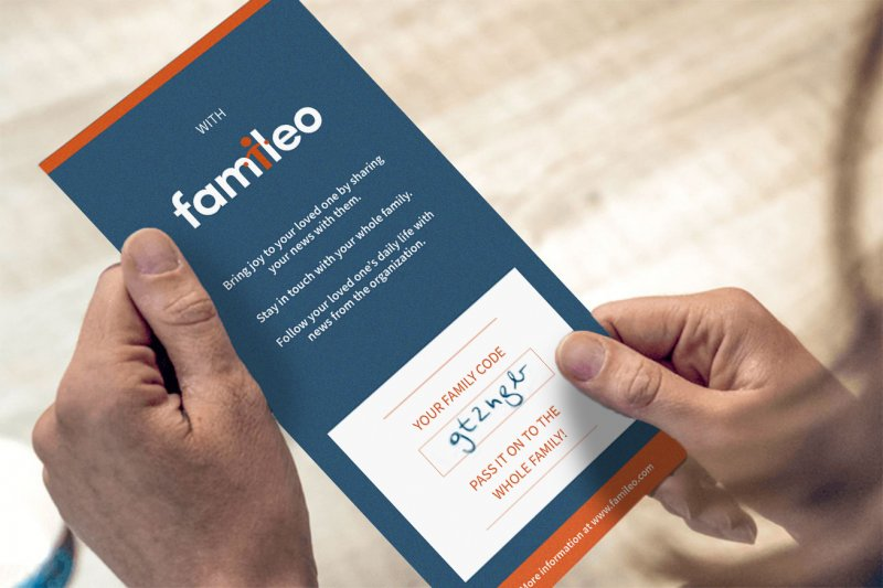 famileo flyer for family registration