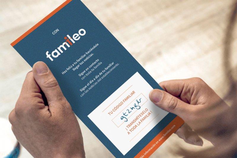 flyer familero para inscripción familia