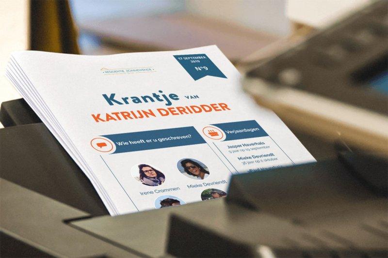 printer krantjes bewoners